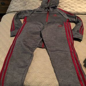 Boys size 7 adidas wore once